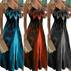 Womens Floral Sleeveless Strappy Maxi Dress Summer Holiday Party Evening Dress $22.19