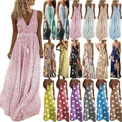 Women Boho Floral Maxi Long Dress Holiday Party Evening Cocktail Club Sundress $16.49