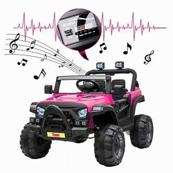 12V Kids Ride On Truck with Remote Control Battery Powered Music MP3 Safety Belt $180.99
