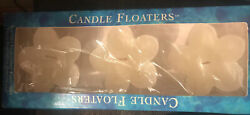 White Candle Floaters Gardenia Scented $8.25