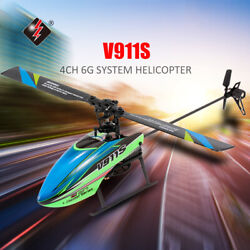 WLtoys V911S 4CH 6G Non Aileron RC Helicopter Kids Toys W 2 Batteries USA P9Y5 $54.13