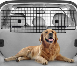Adjustable Large Pet SUV Barriers Universal Fit Heavy Duty Wire Mesh Dog Car $78.64