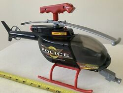 Vintage Police Helicopter Toy Nylint Chopper W Gun $29.99