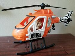 Chap Mei Animal Planet 1:18 Scale Toy Helicopter Vehicle amp; 3.75quot; Figure Lot $9.99