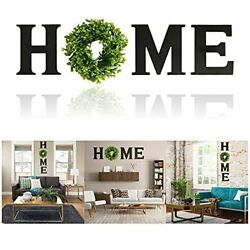 Wooden Letters Home Wall Decoration Signs With Wreath Rustic For Home Wall Door $21.80