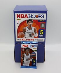 ONE 2020 2021 NBA Hoops Basketball 5 card Pack NEW SEALED DOLLAR TREE YELLOW QTY $2.95