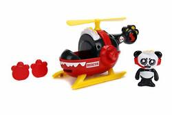 Jada Toys Ryan#x27;s World Helicopter with Combo Panda Figure 6quot; Feature Vehicle Red $19.99