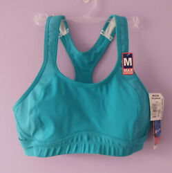 Champion 360 Max Support Sport Bra Sz M Pelican Blue NWT Wire Free Style 1612 $24.99