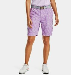 Under Armour UA Womens Links Printed Golf Shorts 9quot; Size 8 1355499 568 $39.95