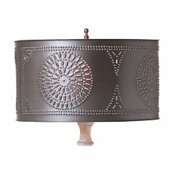 Table Lamp Drum Shade with Chisel in Kettle Black $47.95