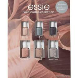 Essie Wild Nudes Collection Nail Lacquers 3 Full Size amp; 3 Mini Shades 6 Pack $19.00