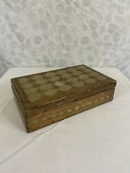 Florentine vintage box made in Italy gold green jewelry trinkets $25.00