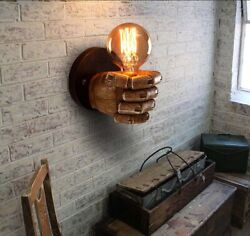 Creative Industrial Clenched Hand Lighting Wall Sconce Lamp Office Porch Light $31.89