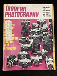 MODERN PHOTOGRAPHY MAGAZINE DECEMBER 1971 47 TOP CAMERAS HOW TO TEST LENSES $39.99