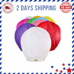 Paper Chinese Lanterns Assorted Colors Wish Birthday Wedding 10pack 20pack New $48.72