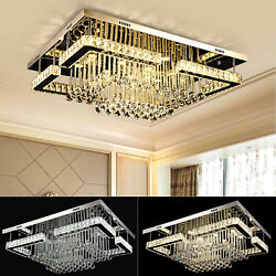 Luxury Crystal Chandeliers K9 LED Light Ceiling Fixture Lamp w Remote Control $215.01