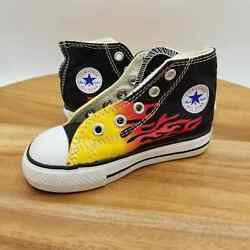 Converse All Star Toddler Size 6 High Top Flame Sneakers Missing Laces $12.00