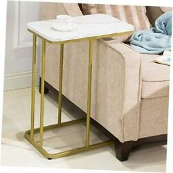 C Side Tables Bedroom Nightstands Marble Color Tables Wood Top Living White $104.63