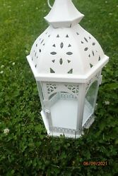 6 White Lanterns Sold Separately perfect for wedding decor or other home decor $15.00