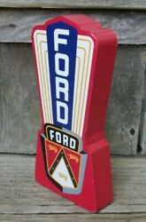 Ford Motor Co. Wood Sign Table Desk Shelf Wall Office Shop Garage Mancave 6quot; $14.99