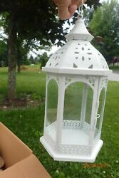 4 White Lanterns Each sold separatly perfect for WEDDING Decor over 12 inches $15.00