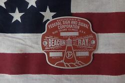 Federal Sign and Signal Model 175 Beacon Ray Replacement Badge $25.50