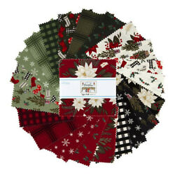 Charm Pack 5quot; Stacker 42pc Riley Blake Farmhouse Christmas by Echo Park Paper Co $12.99