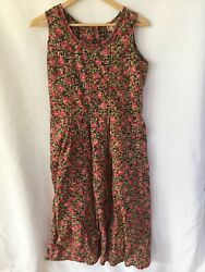 April Cornell Sleeveless Dress Pink Floral size S $34.99