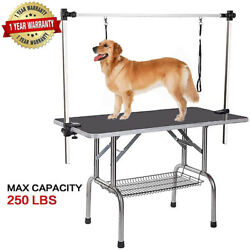 Dog Pet GROOMING TABLE ADJUSTABLE HARNESS NO SIT Haunch Holder RESTRAINT Support $119.45
