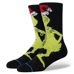 New with Tags Stance Socks quot;Mr. Grinchquot; Crew Casual L 9 13 Christmas $15.99