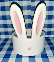 Bath Body Works 3 Wick Bunny Rabbit Ears Candle Ceramic Holder SHIP INCLUDED $39.96