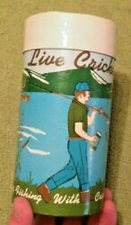 Vintage Paper Fishing Live Cricket Container USA Disposable Decor Rare 1960#x27;s? $39.90