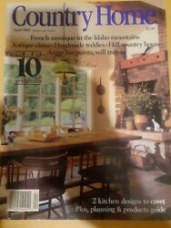 COUNTRY HOME MAGAZINE April 1989 198 pages 2 Kitchen Designs to Covet $3.47