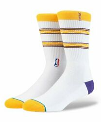 New with tags NBA Stance Socks quot;Lakers Arena Corequot; L 9 12 LA Lakers $14.99