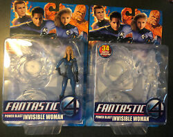 NEW MARVEL FANTASTIC FOUR MOVIE POWER POWER BLAST INVISIBLE WOMAN FIGURE A52 $25.00