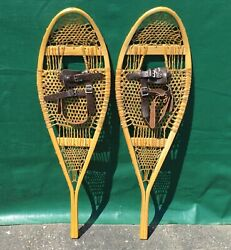 Never Used SNOWSHOES 36x11 w Leather Bindings SNOW SHOES EXCELLENT $109.99