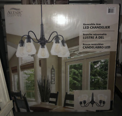 New Altair Lighting Reversible Arm Bronze Finish LED Dimmable Chandelier $69.50