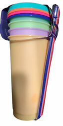 Summer 2021 TAL Color Changing REUSABLE Tumblers amp; Straws 4 Pack Cold Cups 24oz $10.50