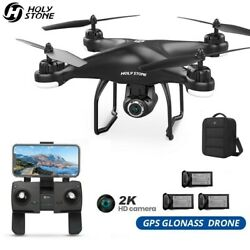 Holy Stone HS120D FPV GPS Drone with 2K HD Camera Selfie Follow Me Quadcopter $119.99