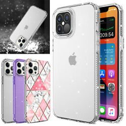 For iPhone 12 Mini 12 Pro Max Case Clear Bling Shockproof Hybrid Slim Hard Cover $3.00