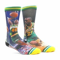 New with tags NBA Legends Stance Socks quot;Kemp and Paytonquot; L 9 12 Seattle Sonics $14.99