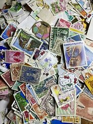 1000 each World Stamp Lot Off Paper $11.88