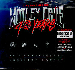 Motley Crue 40 Years RSD 2021 Cassette Tape Box Set Limited Edition New Sealed $99.89