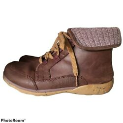 Chaco Womens Size 9 Barbary Boots Mahogany Brown Leather Lace Up Bootie $44.00