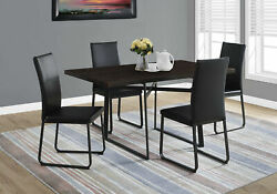 Monarch Contemporary Dining Table In Cappuccino And Black Finish I 1105 $435.24