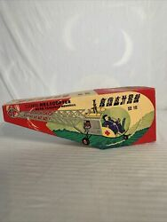 Vintage Clockwork Helicopter with Flexible Monorail MS 706 Chinese tinplate toy $125.00