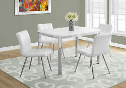 Monarch Contemporary Dining Table In White Finish I 1041 $254.80