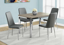 Monarch Contemporary Dining Table In Dark Taupe Finish I 1042 $254.80