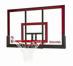 Spalding NBA 48quot; Basketball Poly Carbonate Backboard Rim Combo Outdoor Sports $175.90