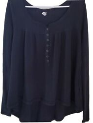 We The Free Free People thermal black small buttons $20.00